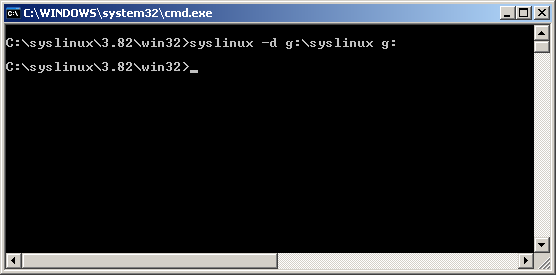 Syslinux cmd prompt