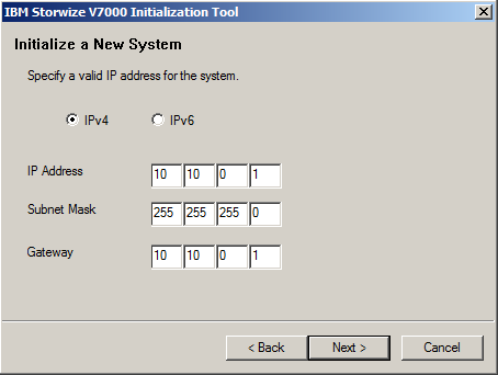 v7000 InitTool IP Address